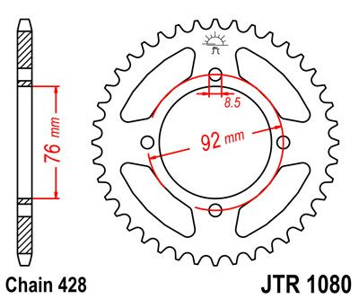 REAR SPROCKET 39T 428