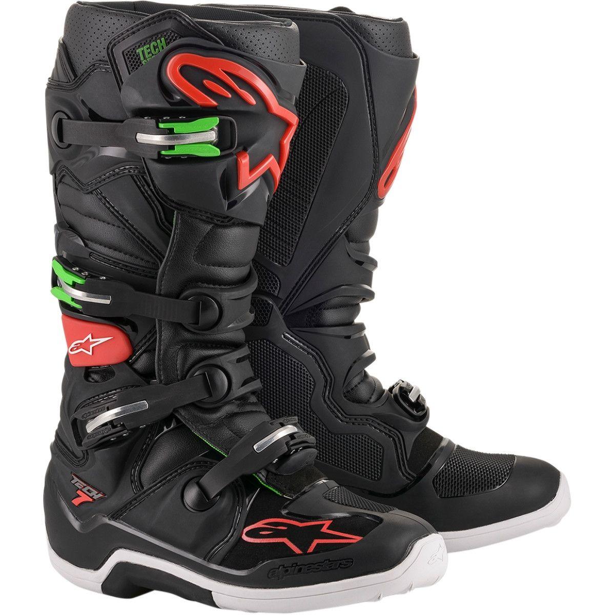 Alpinestars Crosslaarzen Tech 7 Black/Red/Green