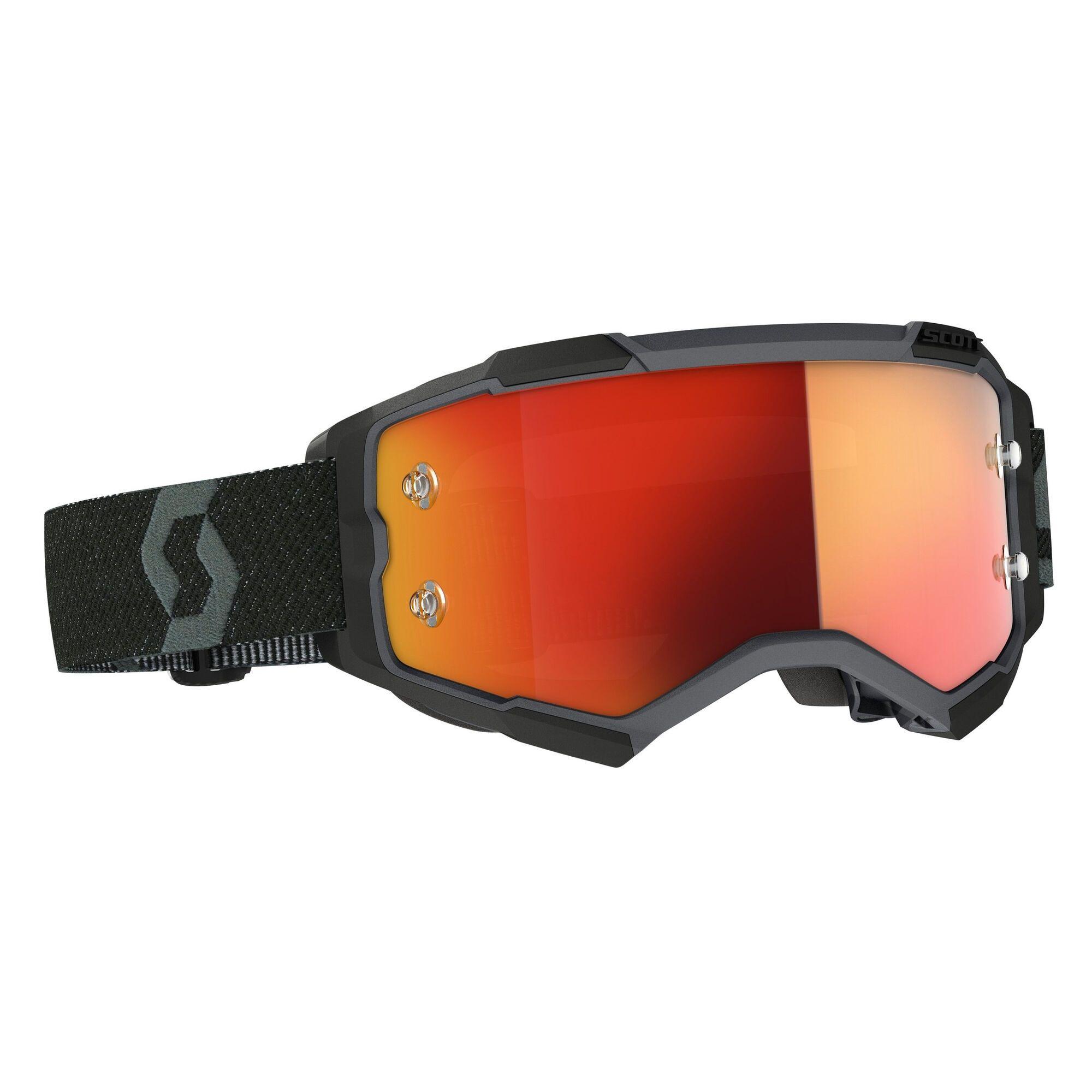 Scott Fury Crossbril Black Orange Chrome