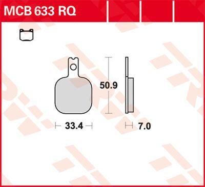 BRAKE PAD 6 EA MCB633RQ