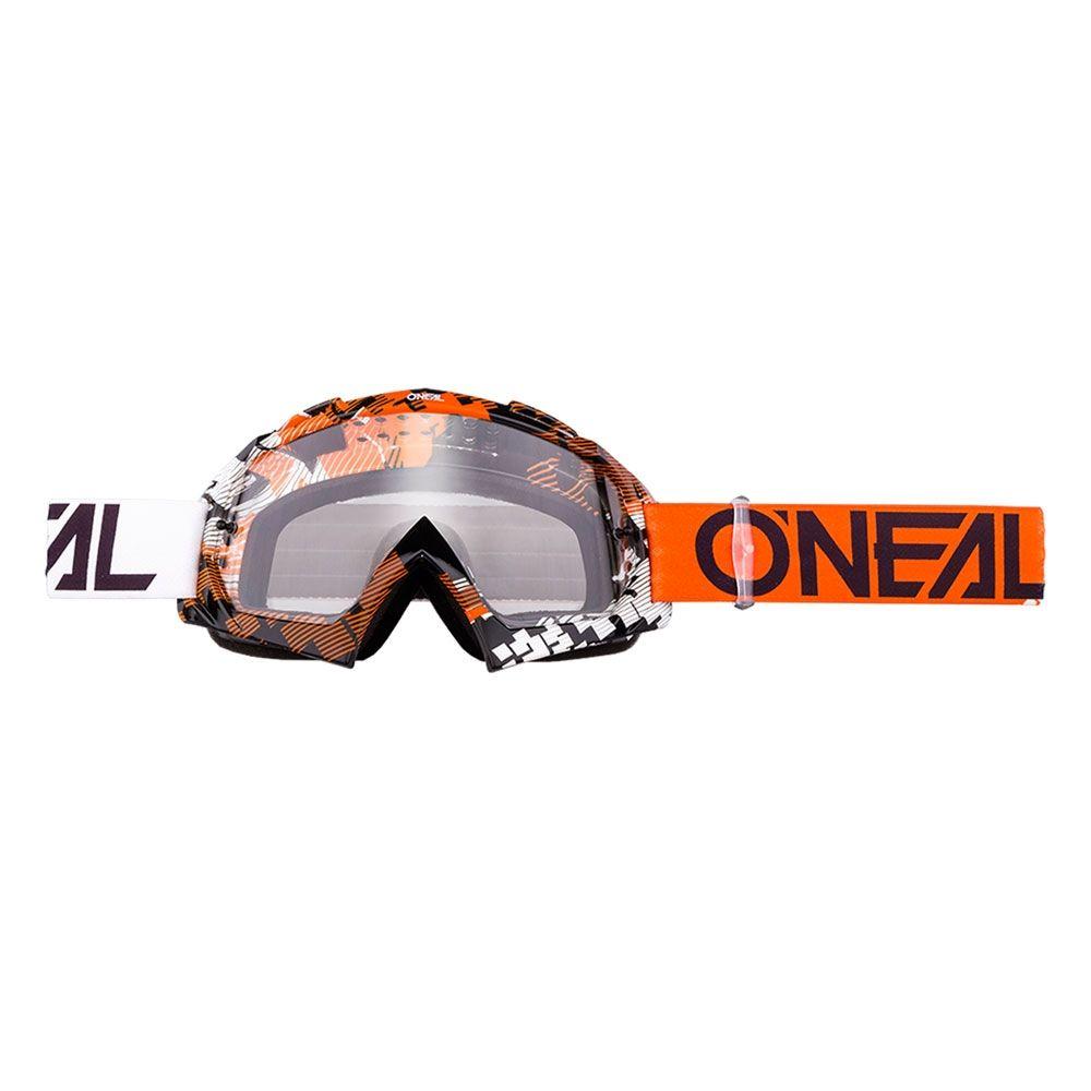 O'Neal Crossbril B10 Pixel Orange/White/Clear