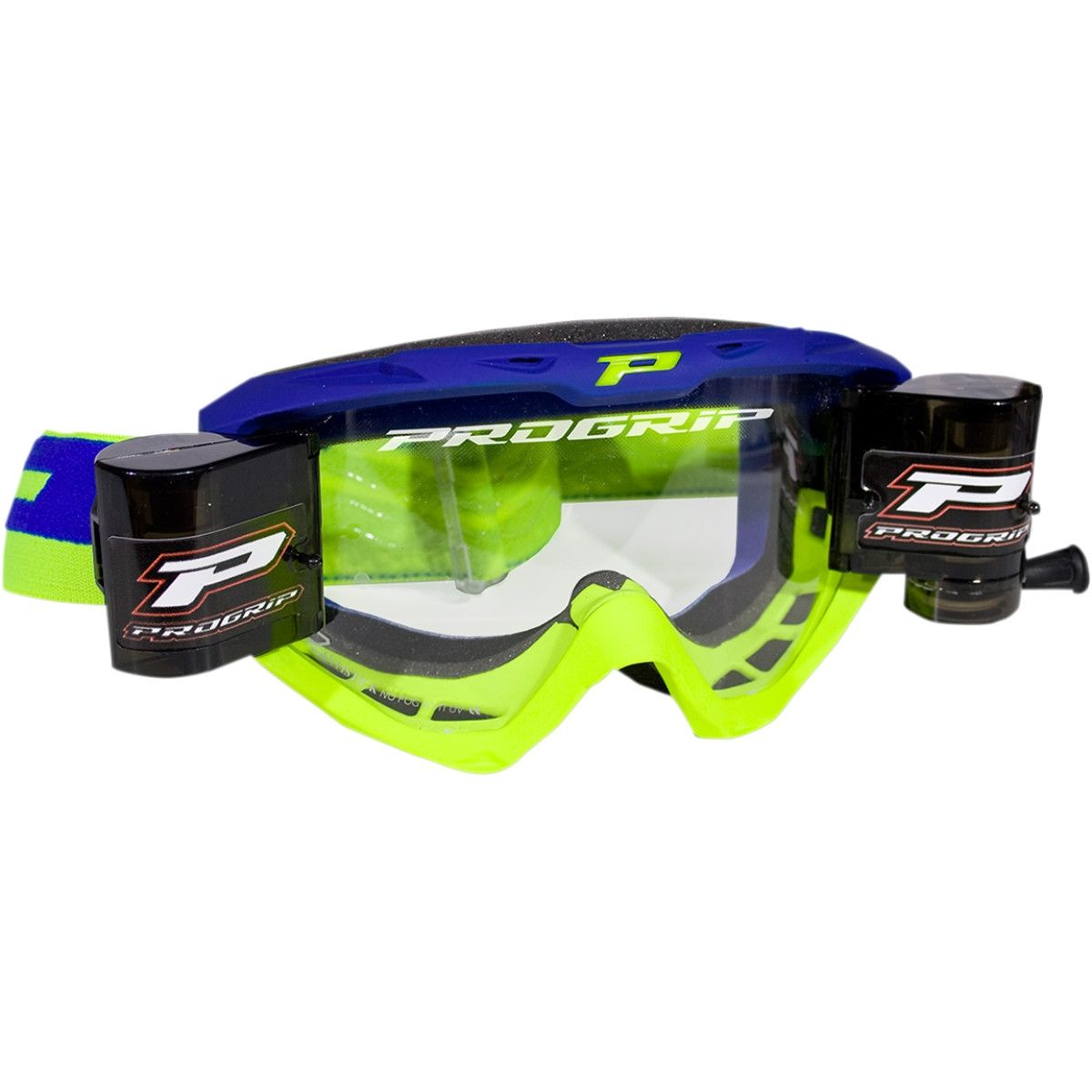Progrip Crossbril 3450 Roll-Off fluor geel/blauw