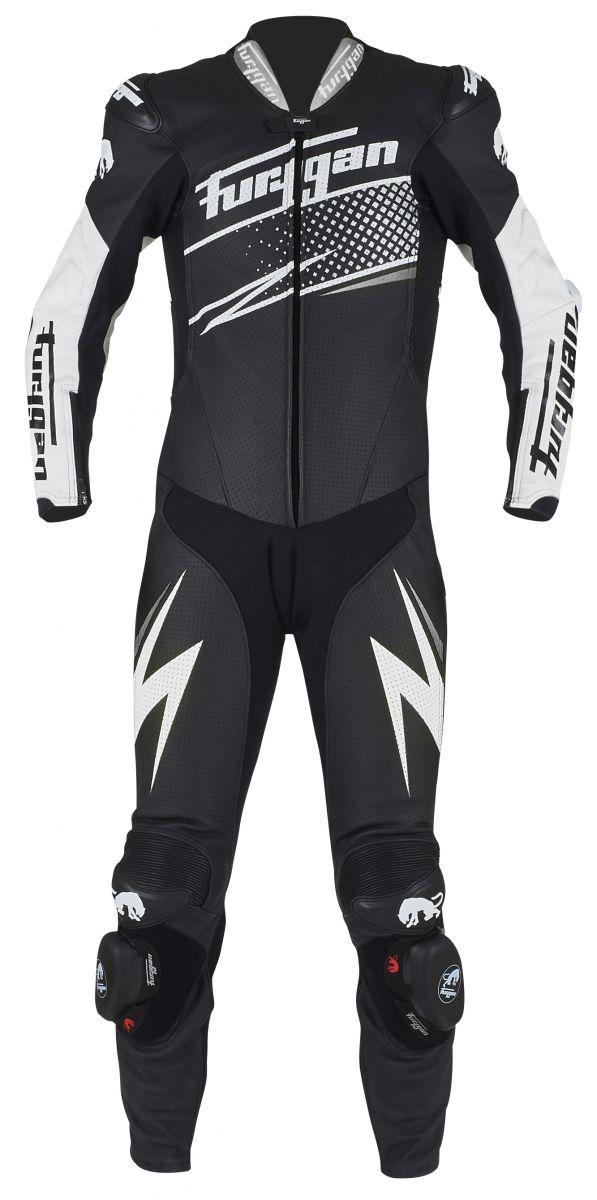 Furygan 6540-1024 Leather suit Full Ride Black-White-Silver 46