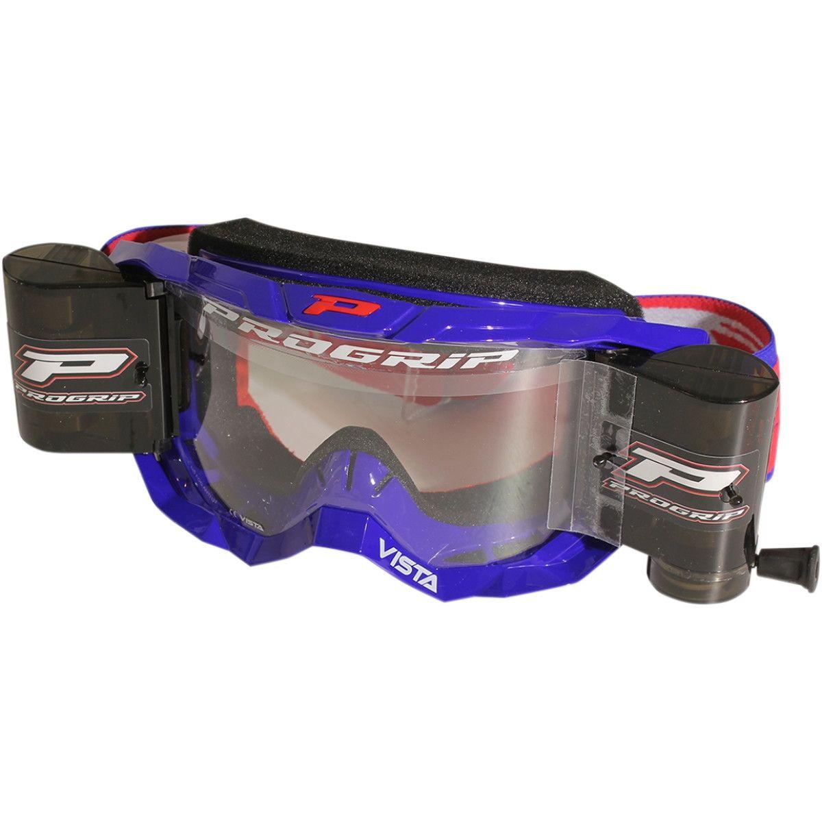 Progrip Vista roll-off XXXL crossbril blauw