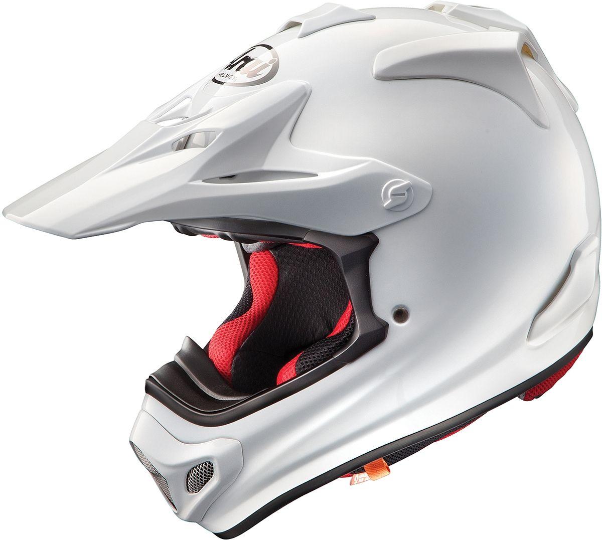 Arai Crosshelm MX-V Plain White (Glanzend)