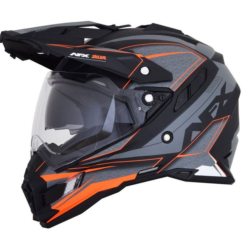 AFX FX-41DS Crosshelm/Endurohelm Frost Grey/Neon Orange