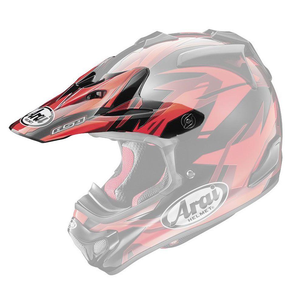 Arai MX-V Helmklep (1)-Speedy red