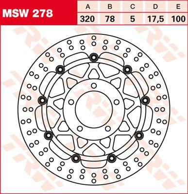 BRAKE DISC FL MSW278
