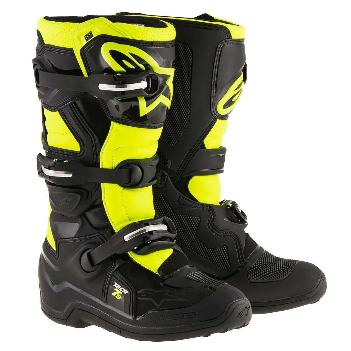Alpinestars Kinder Crosslaarzen Tech 7S Black/Fluor Yellow
