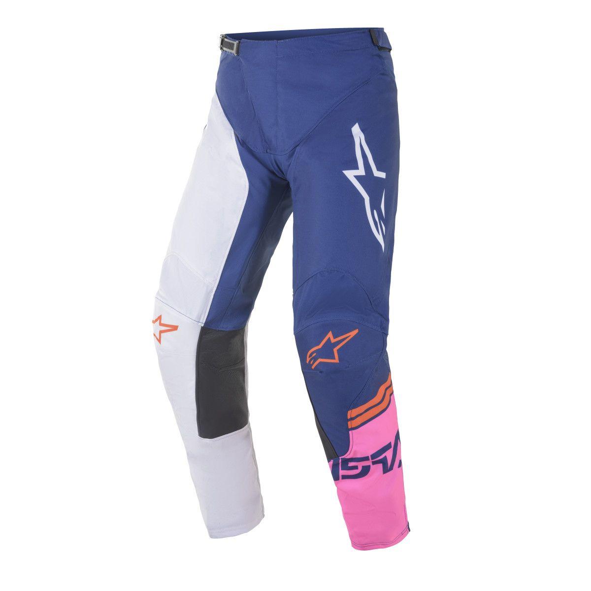 Alpinestars Racer Tech Compass Crossbroek Blue/Pink