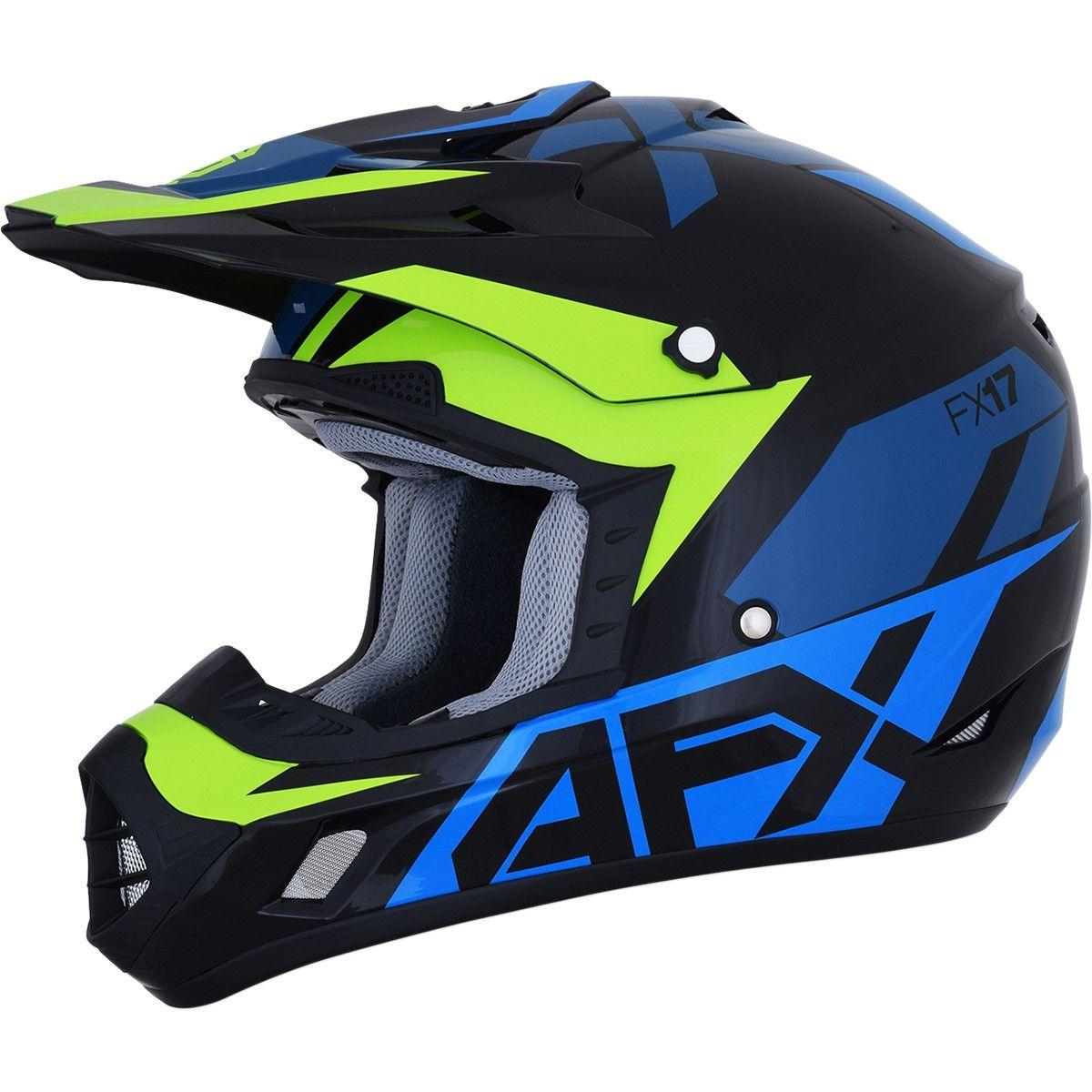 AFX Crosshelm FX-17 Matte Blue/Lime