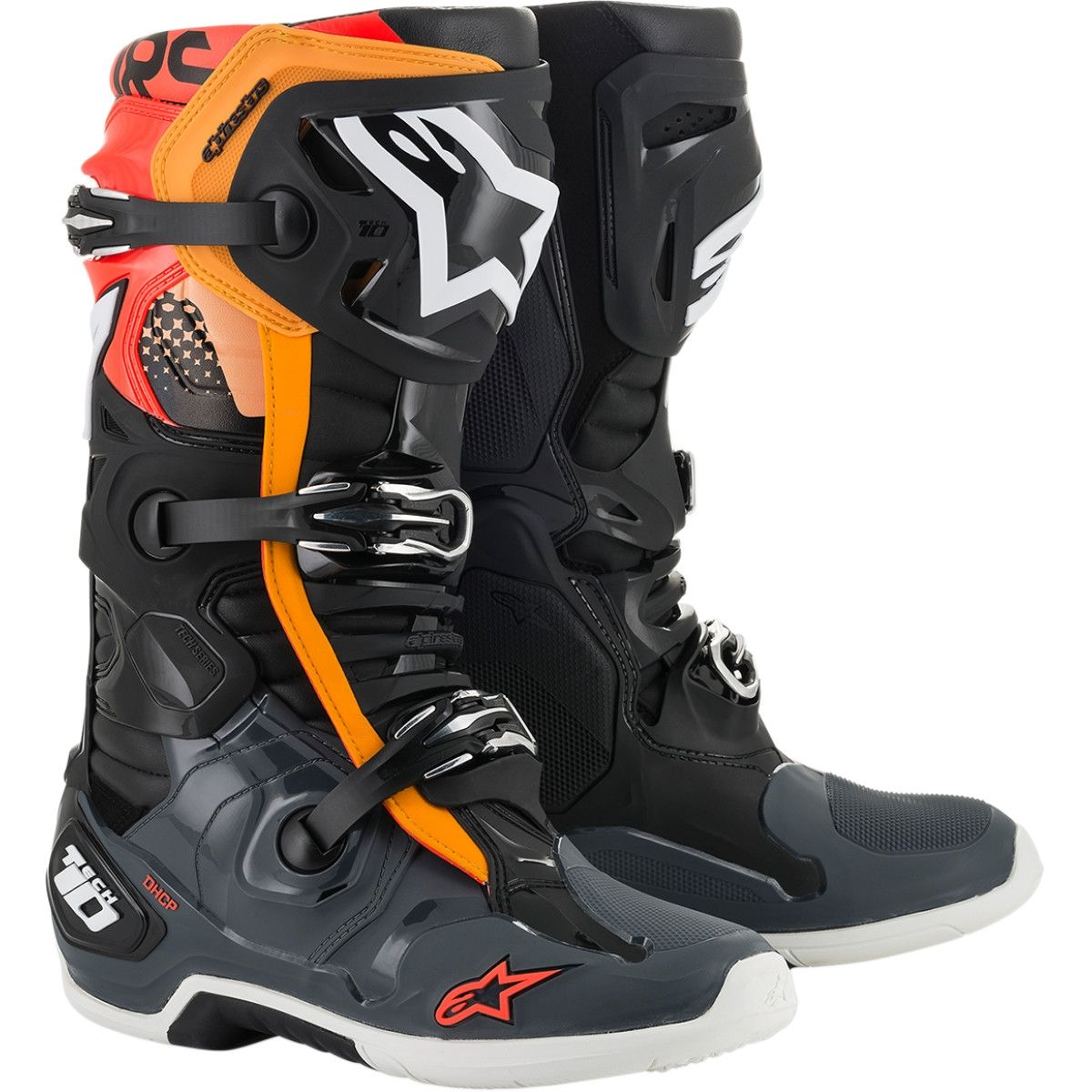 Alpinestars Crosslaarzen Tech 10 Black/Grey/Orange
