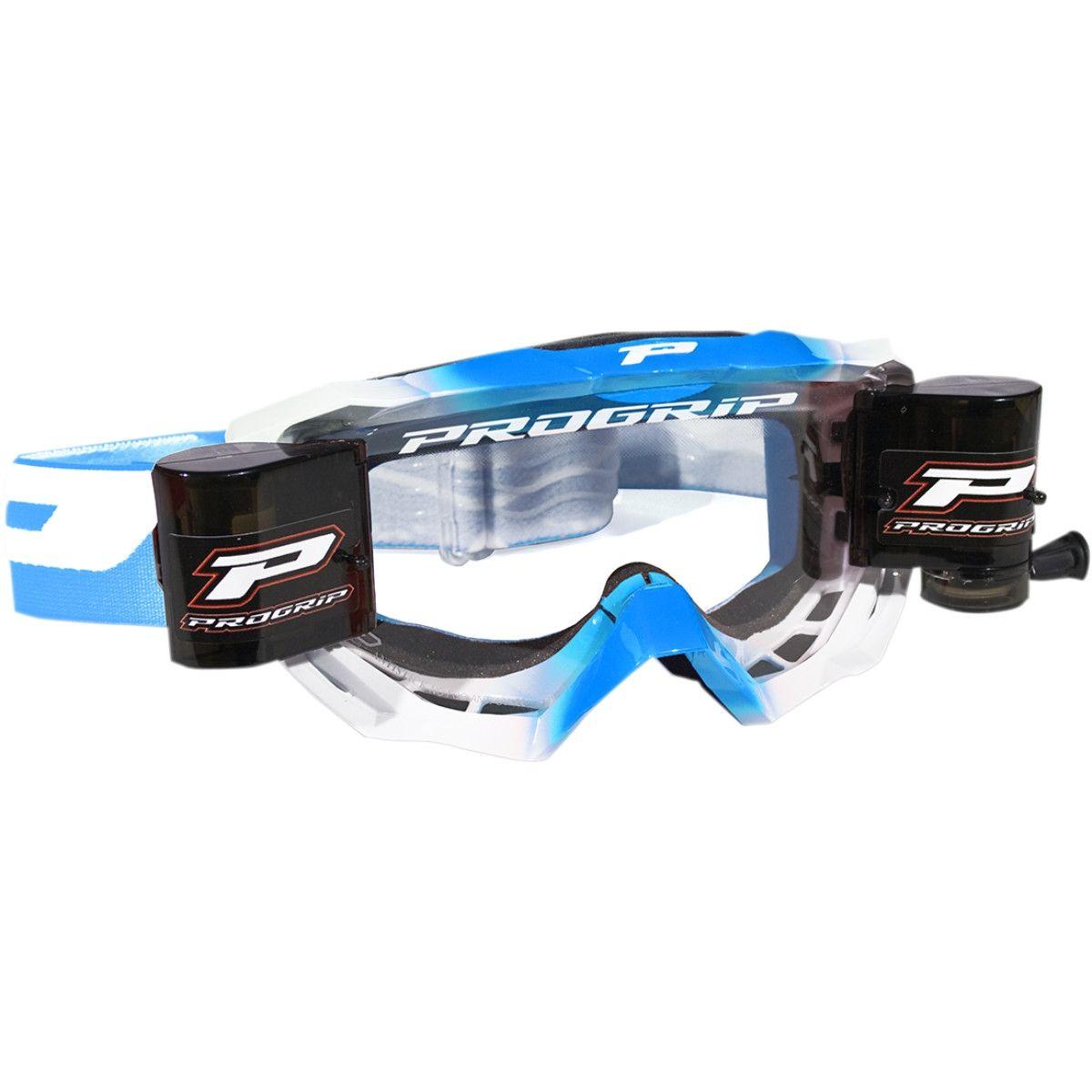 Progrip Crossbril 3200 Venom Roll-Off wit/blauw