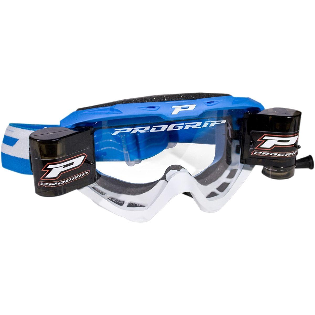 Progrip Crossbril 3450 Roll-Off blauw/wit