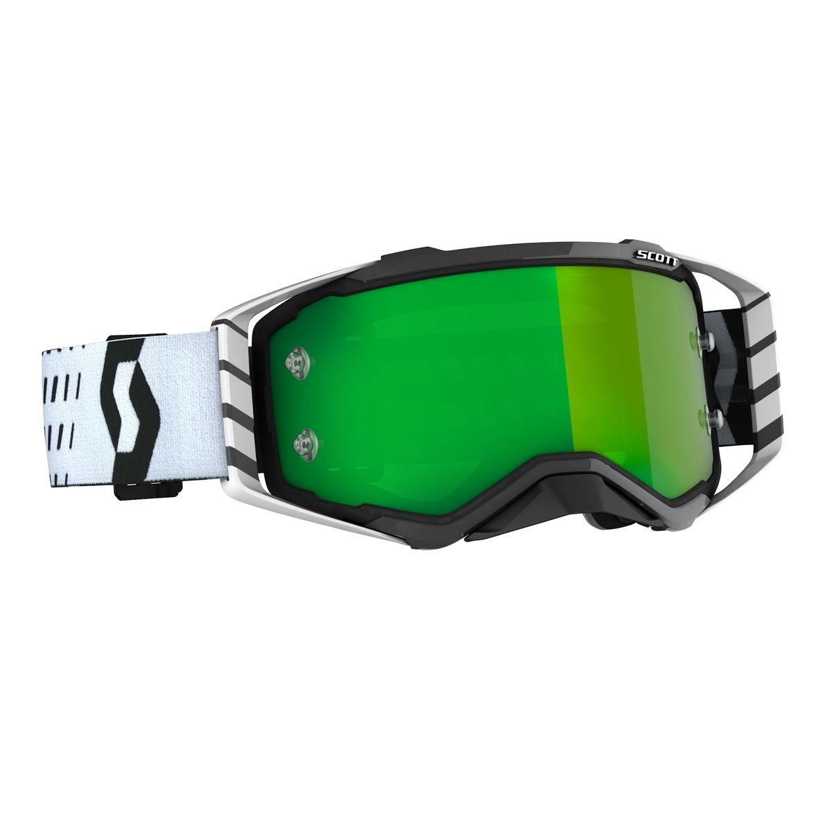 Scott Prospect Crossbril Black/White-Green Chrome