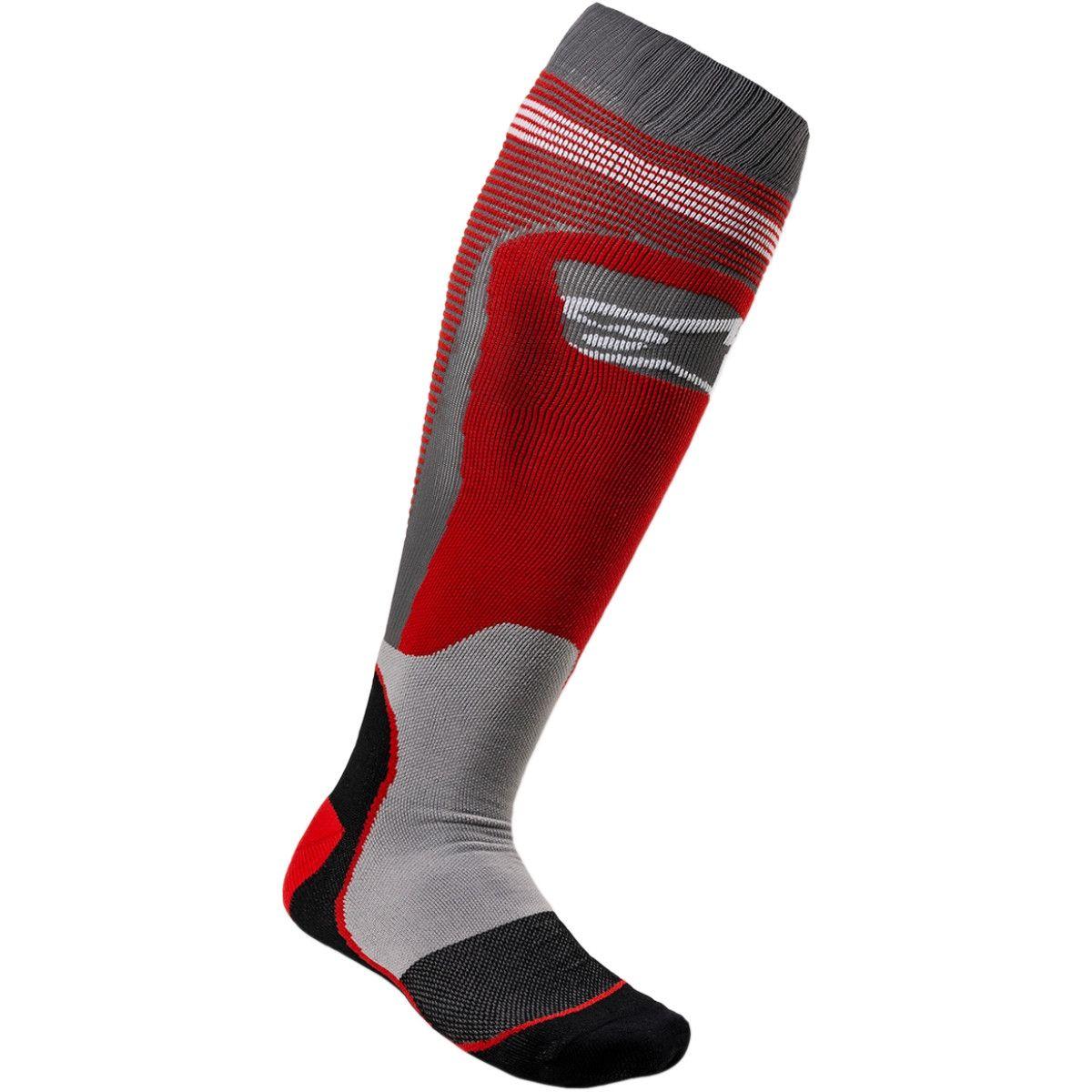 Alpinestars MX Plus Crosssokken Red/Grey
